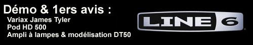 Démo Variax JTV, Pod HD500, DT50