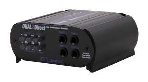 La Dual Z Direct de chez ART intègre 2 DI dans un même boitier, avec pour chaque canal : 2 niveaux d'atténuation, un ground lift, et l'inversion de phase.